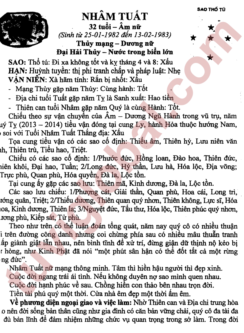 Xem Tu Vi Nam 2014 Tuoi Giap Ty Nu | News Of The Worlds