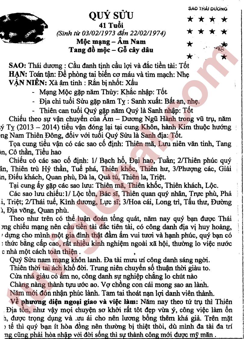 Quý Sửu (03.02.1973 - 22.02.1974) - Âm Nam